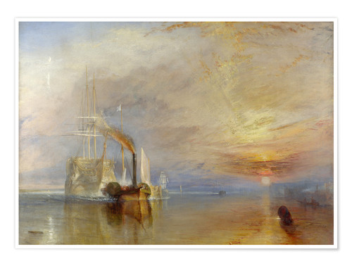 Premium poster The fighting Temeraire