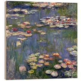 Wood print  Water lilies - Claude Monet