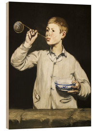 Wood  Boy blowing bubbles - Edouard Manet