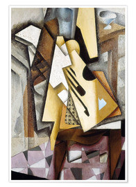 Premium poster  Guitar on a Chair - Juan Gris
