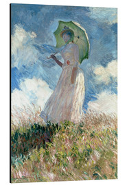 Aluminium print  Woman with parasol turned to the left - Claude Monet