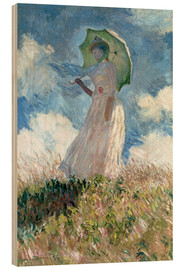 Wood  Woman with parasol turned to the left - Claude Monet