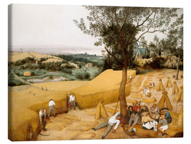 Canvas print  The seasons: grain harvest - Pieter Brueghel d.Ä.