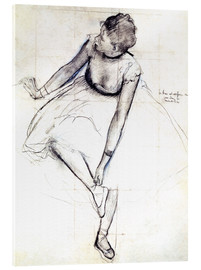 Acrylic glass  Dancer adjusting her shoe - Edgar Degas