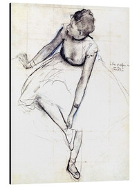 Aluminium print  Dancer adjusting her shoe - Edgar Degas