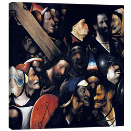 Canvas  Christ carrying the cross - Hieronymus Bosch