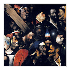 Premium poster  Christ carrying the cross - Hieronymus Bosch