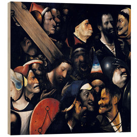Wood print  Christ carrying the cross - Hieronymus Bosch