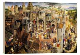 Wood print  Passion of the Christ - Hans Memling