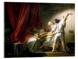 Acrylic glass  The Bolt - Jean-Honoré Fragonard