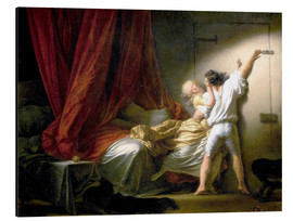 Aluminium print  The Bolt - Jean-Honoré Fragonard