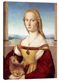 Canvas print  Woman with an unicorn - Raffael
