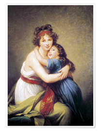 Premium poster Elisabeth Louise Vigee-Lebrun with daughter