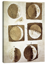 Canvas print  The phases of the moon - Galileo Galilei