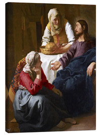 Canvas print  Christ in the house of Martha and Mary - Jan Vermeer