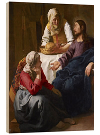 Wood print  Christ in the house of Martha and Mary - Jan Vermeer