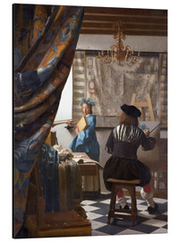 Aluminium print  The painting art - Jan Vermeer