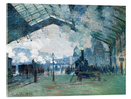 Acrylic glass  Saint Lazare Train Station: the train from Normandy - Claude Monet