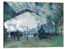 Aluminium print  Saint Lazare Train Station: the train from Normandy - Claude Monet
