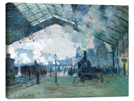 Canvas print  Saint Lazare Train Station: the train from Normandy - Claude Monet