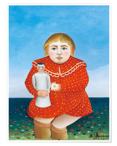 Premium poster The girl with a doll