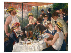 Aluminium print  Luncheon of the boating party - Pierre-Auguste Renoir