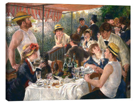 Canvas  Luncheon of the boating party - Pierre-Auguste Renoir