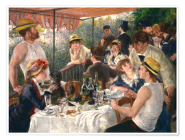 Premium poster  Luncheon of the boating party - Pierre-Auguste Renoir