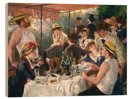 Wood print  Luncheon of the boating party - Pierre-Auguste Renoir