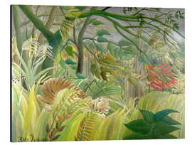 Alu-Dibond  Tiger in a tropical storm - Henri Rousseau