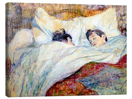 Canvas print  The Bed - Henri de Toulouse-Lautrec
