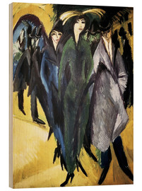 Wood print  Women in the Street - Ernst Ludwig Kirchner