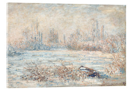 Acrylic print  Frost near Vetheuil (Le Givre) - Claude Monet