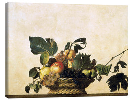 Canvas print  Fruit basket - still life - Michelangelo Merisi (Caravaggio)