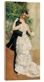 Wood print  Dance in the city - Pierre-Auguste Renoir