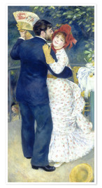 Premium poster  Dance in the country - Pierre-Auguste Renoir