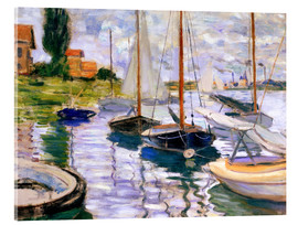 Acrylic print  Sailboats on the Seine - Claude Monet