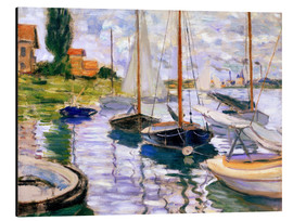 Aluminium print  Sailboats on the Seine - Claude Monet