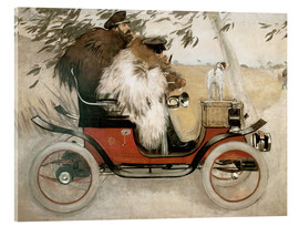 Acrylic print  Casas and Romeu in an automobile - Ramon Casas i Carbo