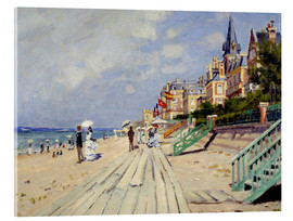 Acrylic print  The beach at Trouville - Claude Monet