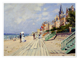 Poster  The beach at Trouville - Claude Monet