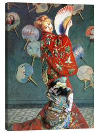 Canvas print  The Japanese (Camille, Japanese dressed) - Claude Monet