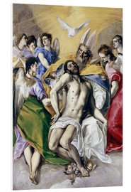 Foam board print  The Holy Trinity - Dominikos Theotokopoulos (El Greco)