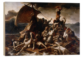 Wood print  Raft of the Medusa - Theodore Gericault