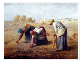 Poster  The Gleaners - Jean-François Millet
