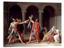 Acrylic glass  Oath of the Horatii - Jacques-Louis David