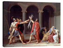 Canvas print  Oath of the Horatii - Jacques-Louis David