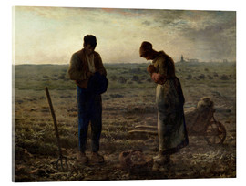 Acrylic glass  The Angelus - Jean-François Millet
