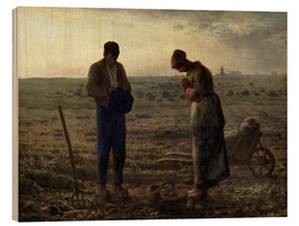 Wood print  The Angelus - Jean-François Millet