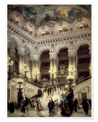 Premium poster Stairs of the Opera in Paris